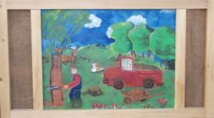 la forêt peinture naive Anita cambreri